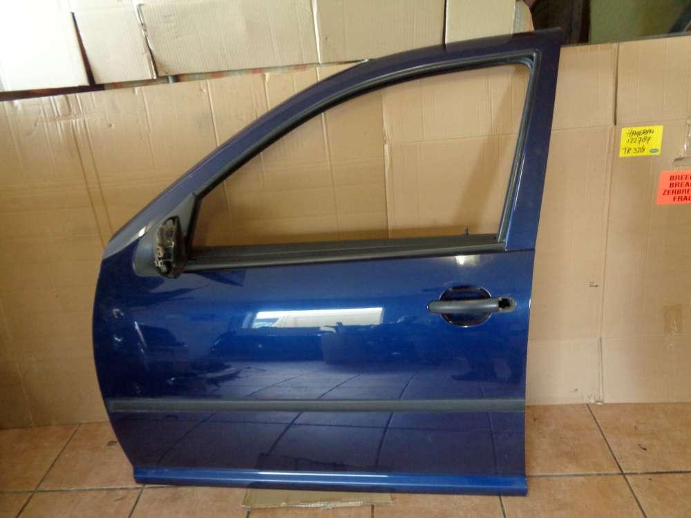 VW Golf 4 Bj 98 Limousine 1,4 L 5Türer Fahrertür Vorne Links Indigoblau LB5N