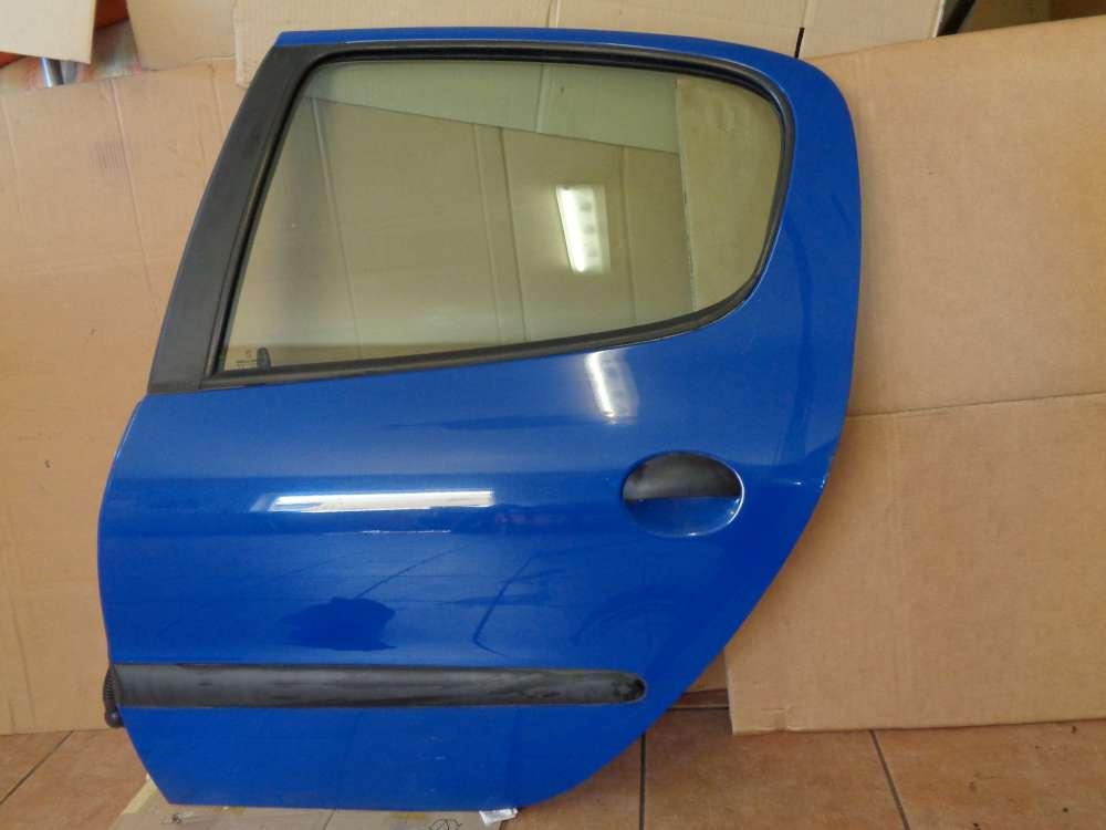 Peugeot 206 Bj:2000 5 türer Tür Hinten Links Blau Farbcode : EHJ
