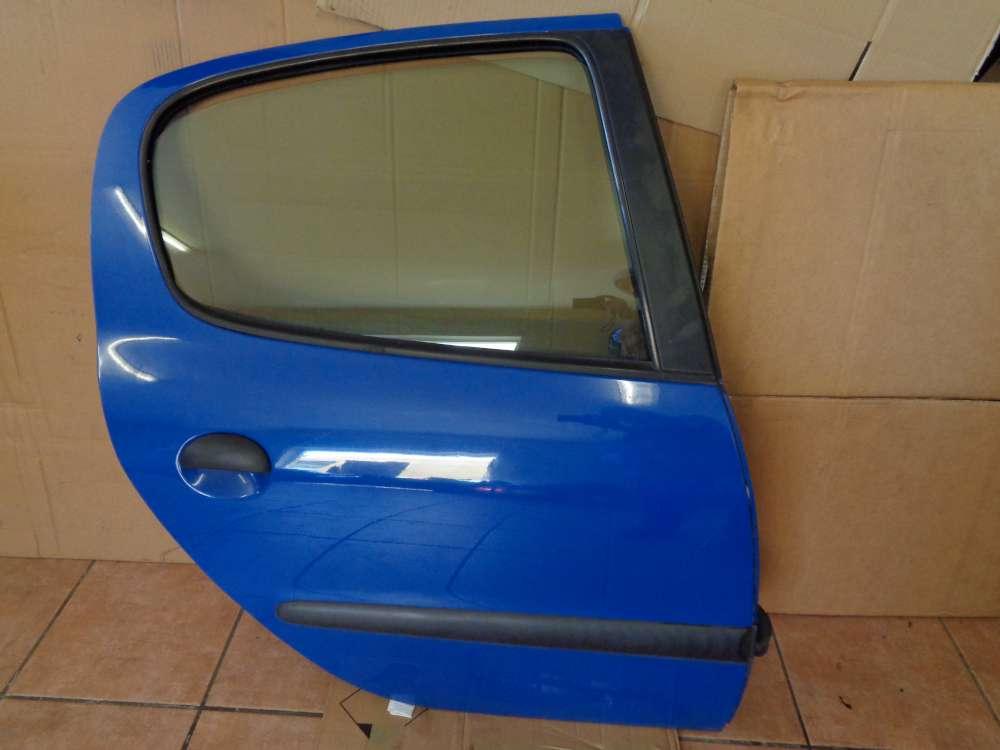 Peugeot 206 Bj:2000 5 türer Tür Hinten Rechts Blau Farbcode : EHJ