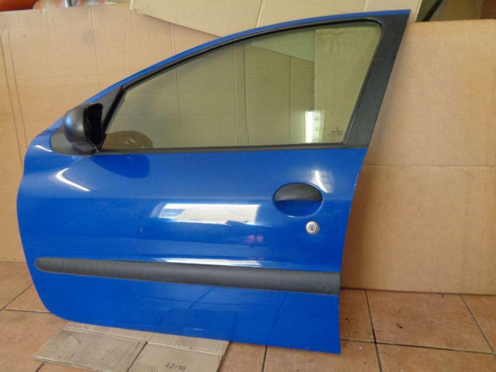 Peugeot 206 Bj:2000 5 türer Tür Vorne Links Blau Farbcode : EHJ