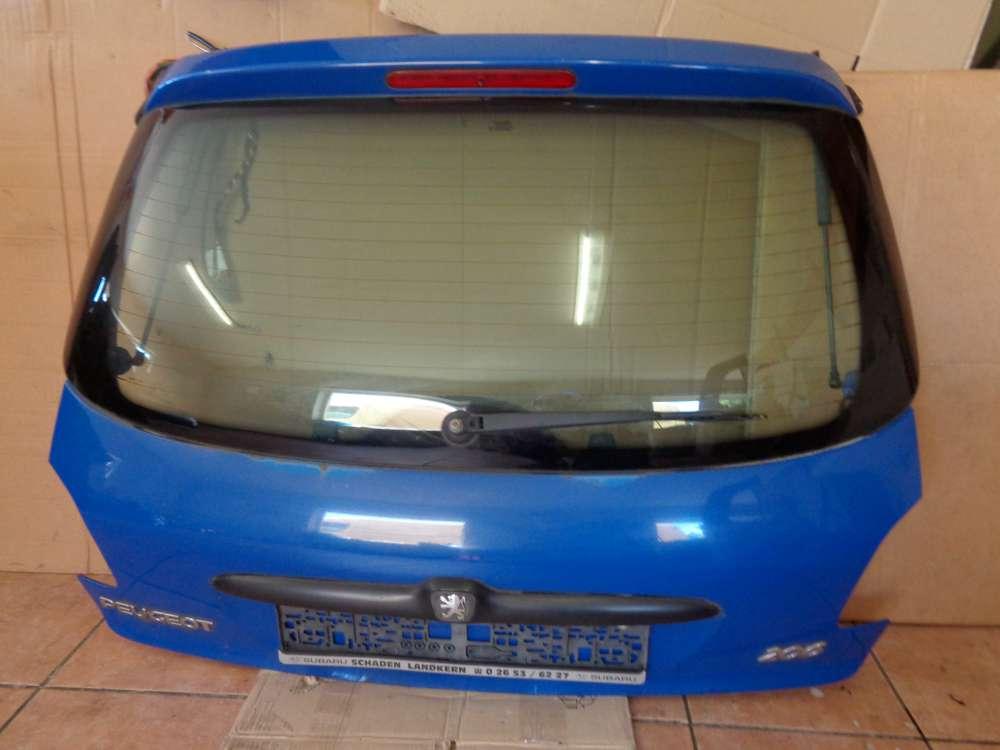 Peugeot 206 Bj:2000 5 türer Heckklappe Kofferraumklappe Blau Farbcode : EHJ