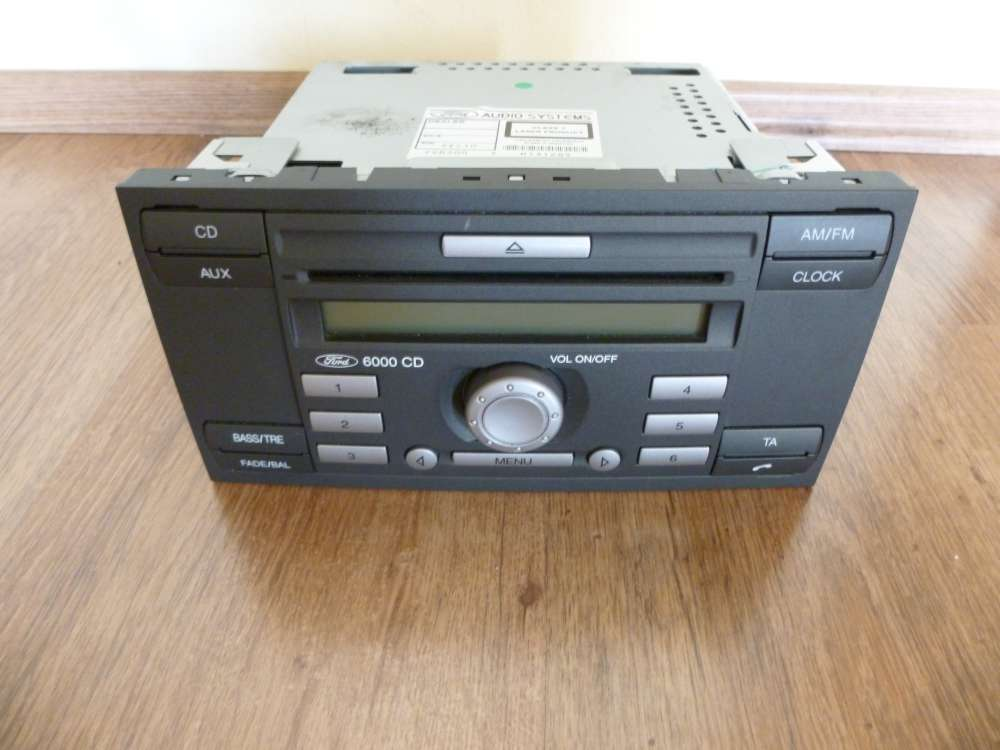 Ford Fiesta Focus Mondeo CD Player Radio 6000 + Code 6S61-18C815-AF