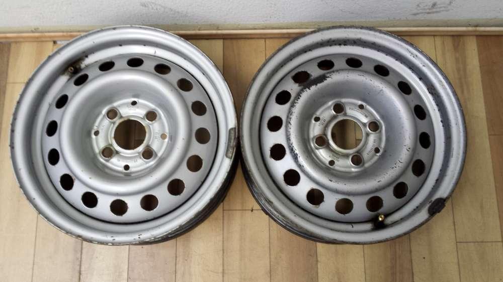 2  x Original Stahlfelgen für Seat 5.5Jx14H2  ET35  LK 4x100  6K9 601 027A/B