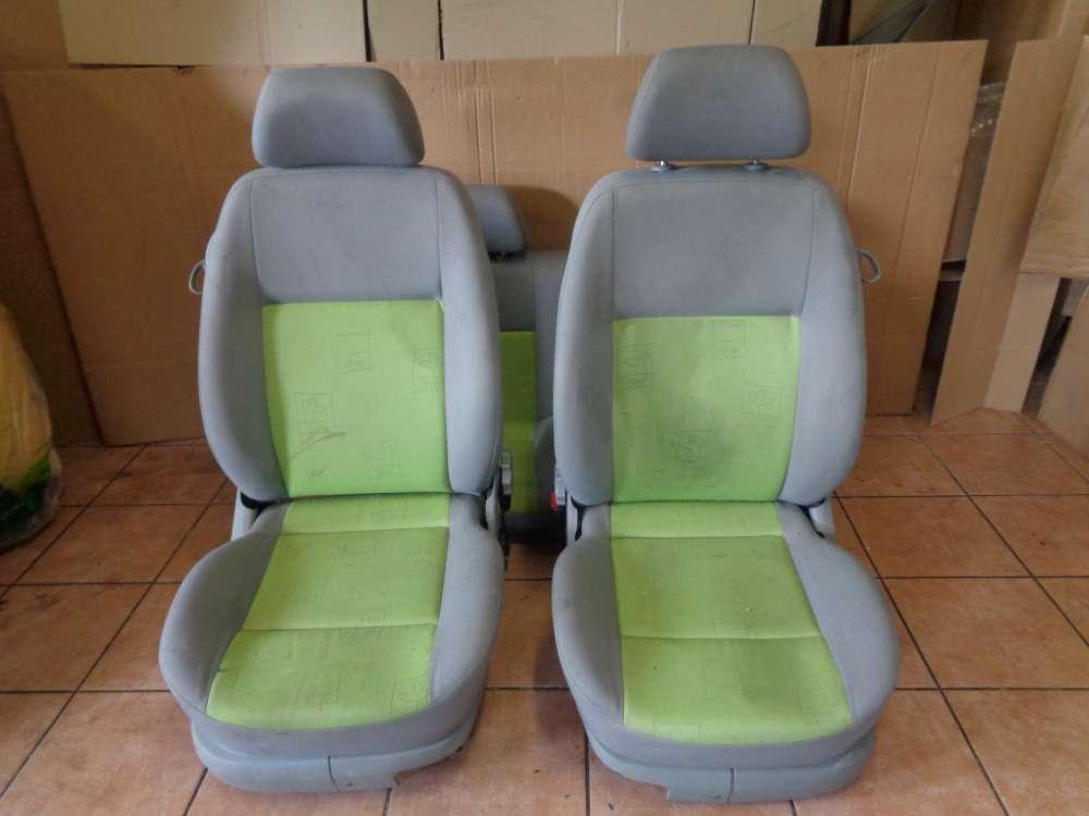 VW Lupo 6X Sitze Innenausstattung Stoff grün grau