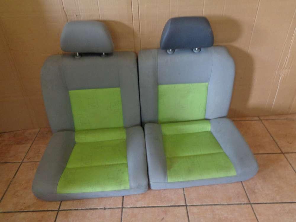 VW Lupo 6X Sitze Rücksitzbank Sitzbank Hinten Stoff grün grau
