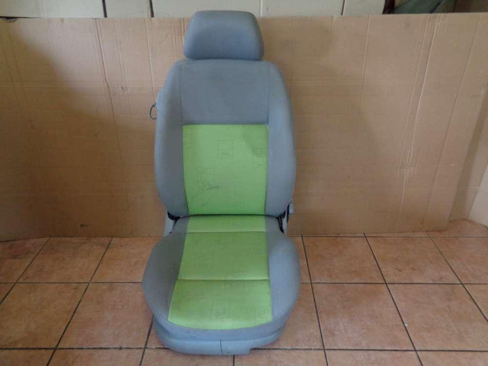 VW Lupo 6X Sitz Vorne Rechts Stoff grün / grau