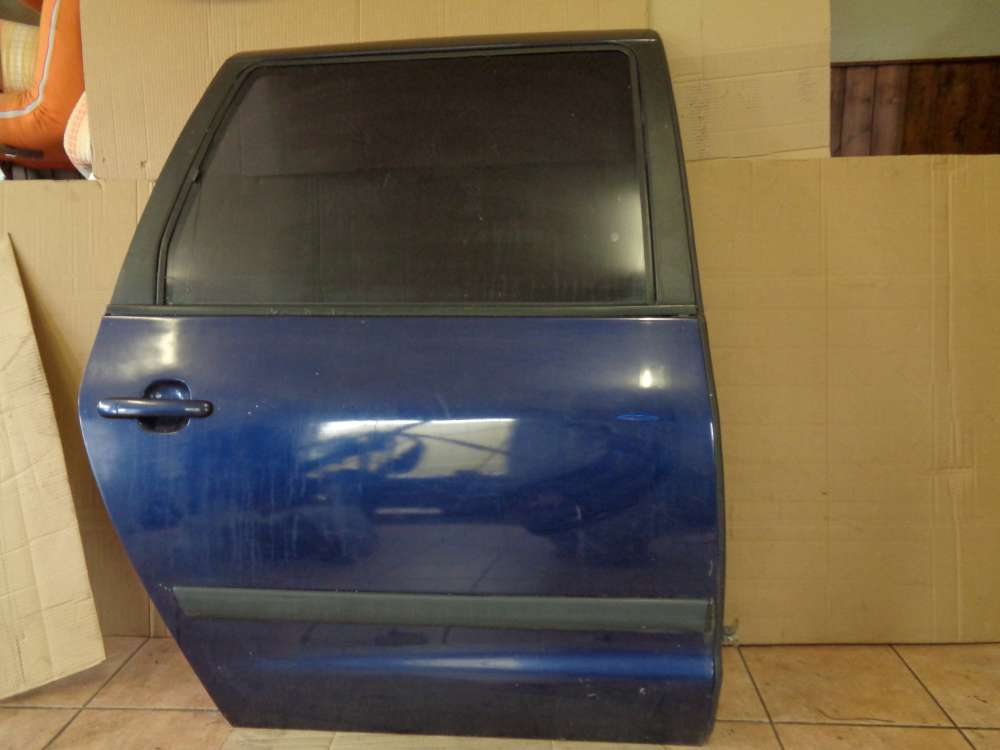 VW Sharan Bj 2003 7M Tür Hinten Rechts Blau Farbcode : LB5N