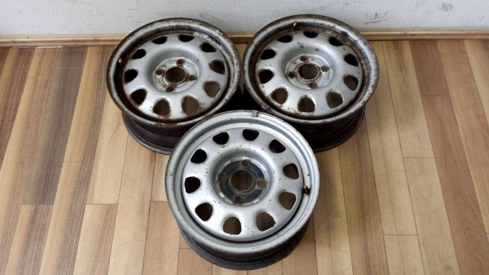3 x Stahlfelgen  für VW Golf 3 , VW Vento  6J x 14 H2  ET:45  -  4 Loch