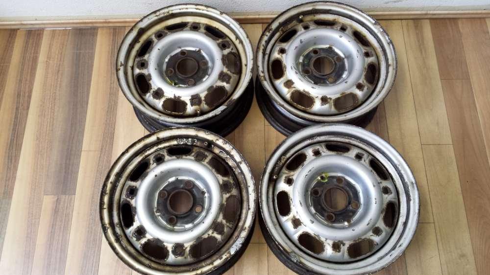 4 x Stahlfelgen für VW Passat 35i und Audi 6Jx14H2  ET:38  357601025A/B