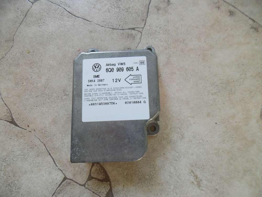 VW Polo 6N2 Bora Steuergerät Airbag Airbagsteuergerät 6Q0909605A Index 05