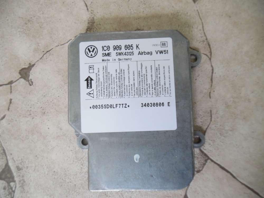 VW Polo 9N 9N3, SEAT Fabia Steuergerät  Airbagsteuergerät 1C0909605K Index 08