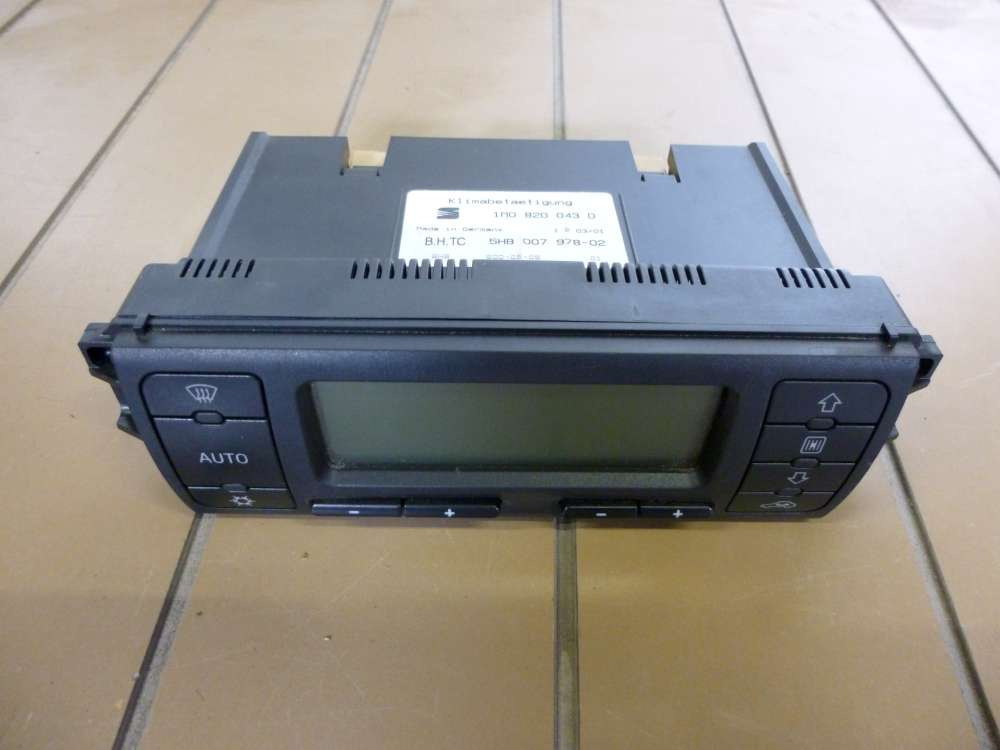 Seat Leon Bj 2001 Heizung Klima Bedienteil 1M0820043D Klimabetätigung 5HB007978