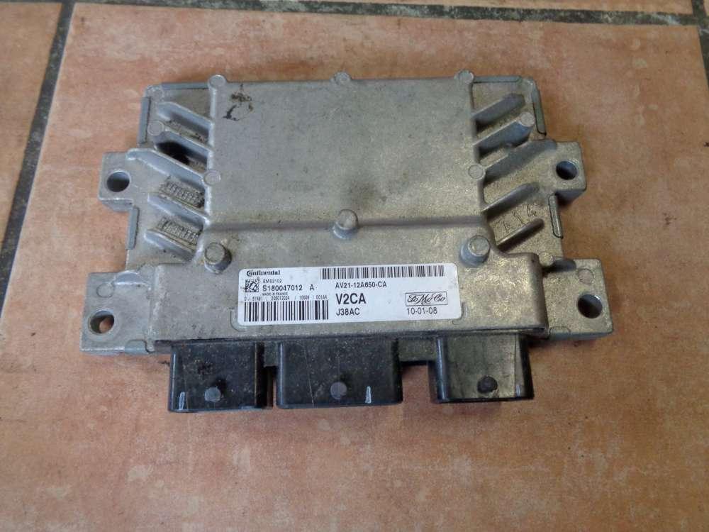 Ford Fiesta VI JA8 Bj:2010 Motorsteuergerät AV21-12A650-CA / S180047012A