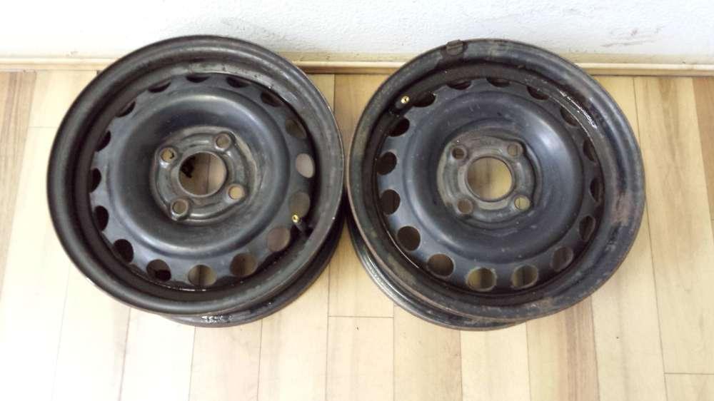 2 x Stahlfelgen Opel Astra F  5.5J x 13  ET:46  -  4 Loch