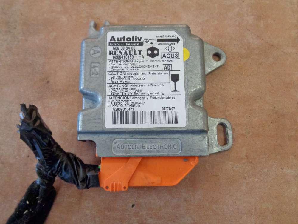 Renault Kangoo KC Bj:2007 Airbagsteuergerät Steuergerät 8200410189