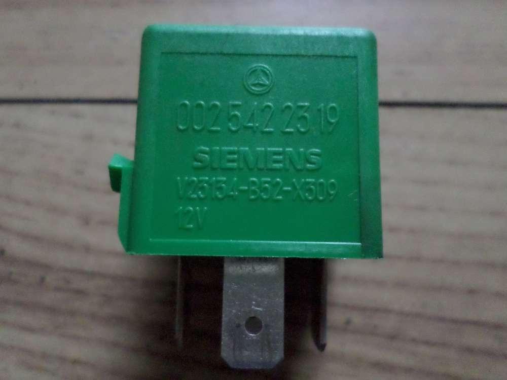 Orginal Relais SIEMENS 0025422319 Grün V23134-B52-X309  Mercedes