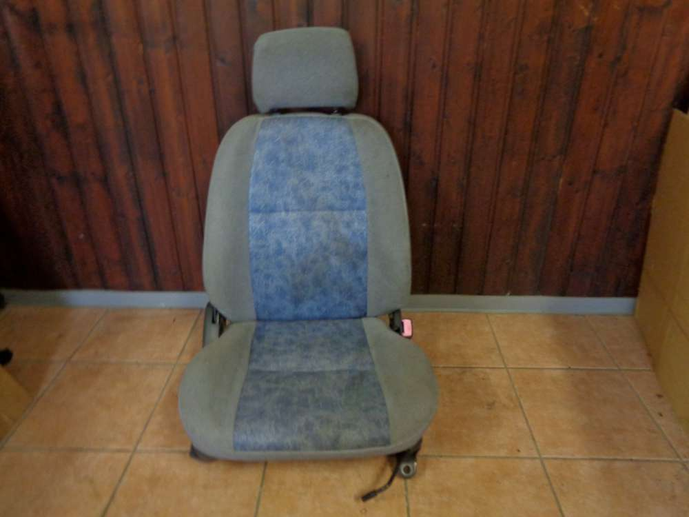 Toyota Starlet Sitze 3türer Vorne Rechts Blau / Grau Stoff
