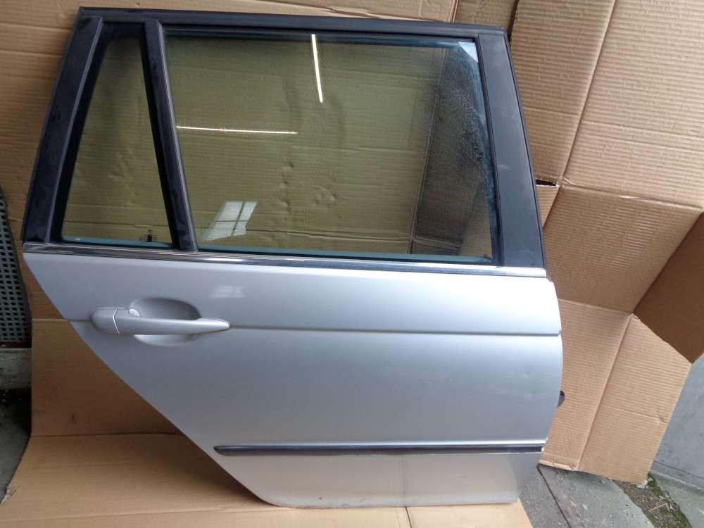 BMW 320i  E46 Kombi Tür Hinten Rechts silber Farbecod:354 Metallicsilber