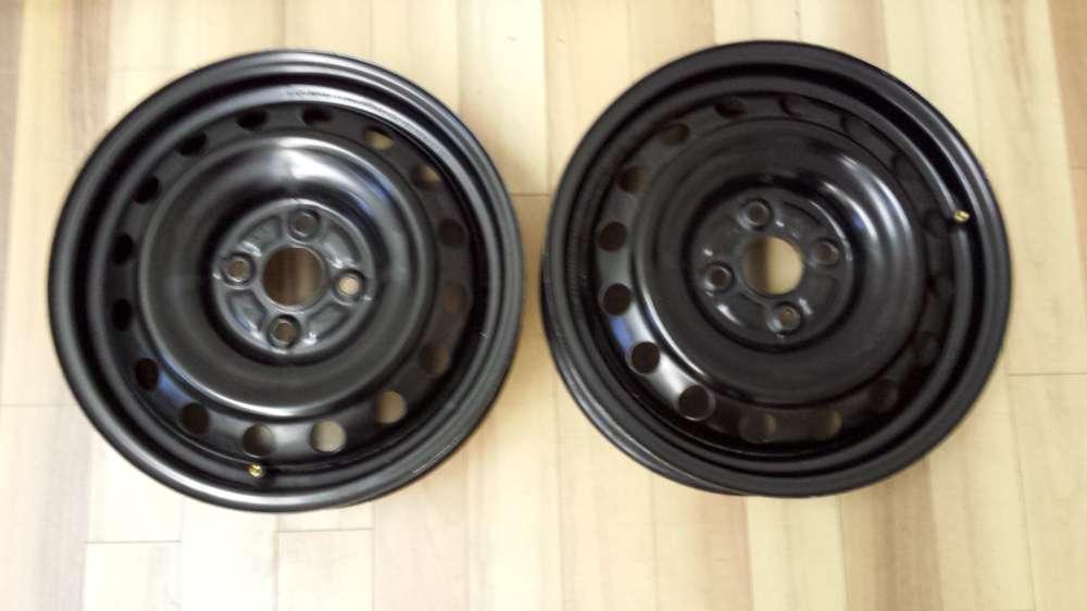 2 x Stahlfelgen für Toyota iQ 2009/2013  5Jx15H2   ET:45  KBA 43737  4Loch