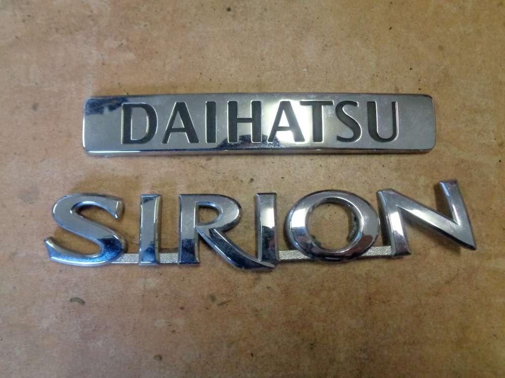 Daihatsu Sirion M3 Embleme Hinten