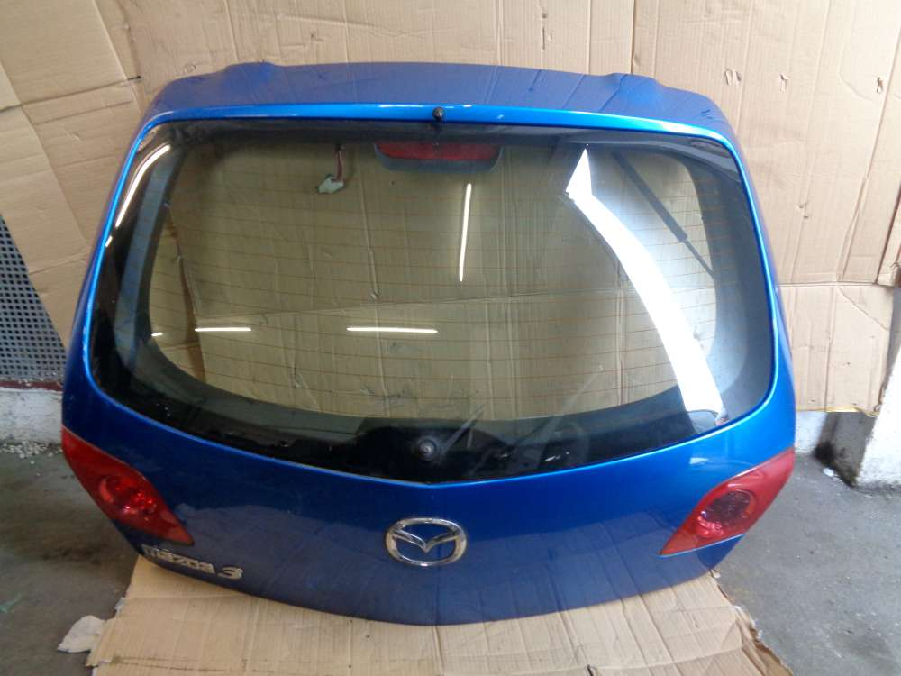 Mazda 3 BK 1.6i Bj:2004 Heckklappe Kofferraum Blau : 27B