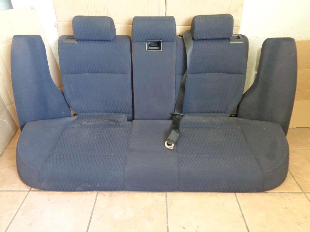 BMW E46 3er Sitze Rücksitzbank Rücksitz Stoff Dunkelblau