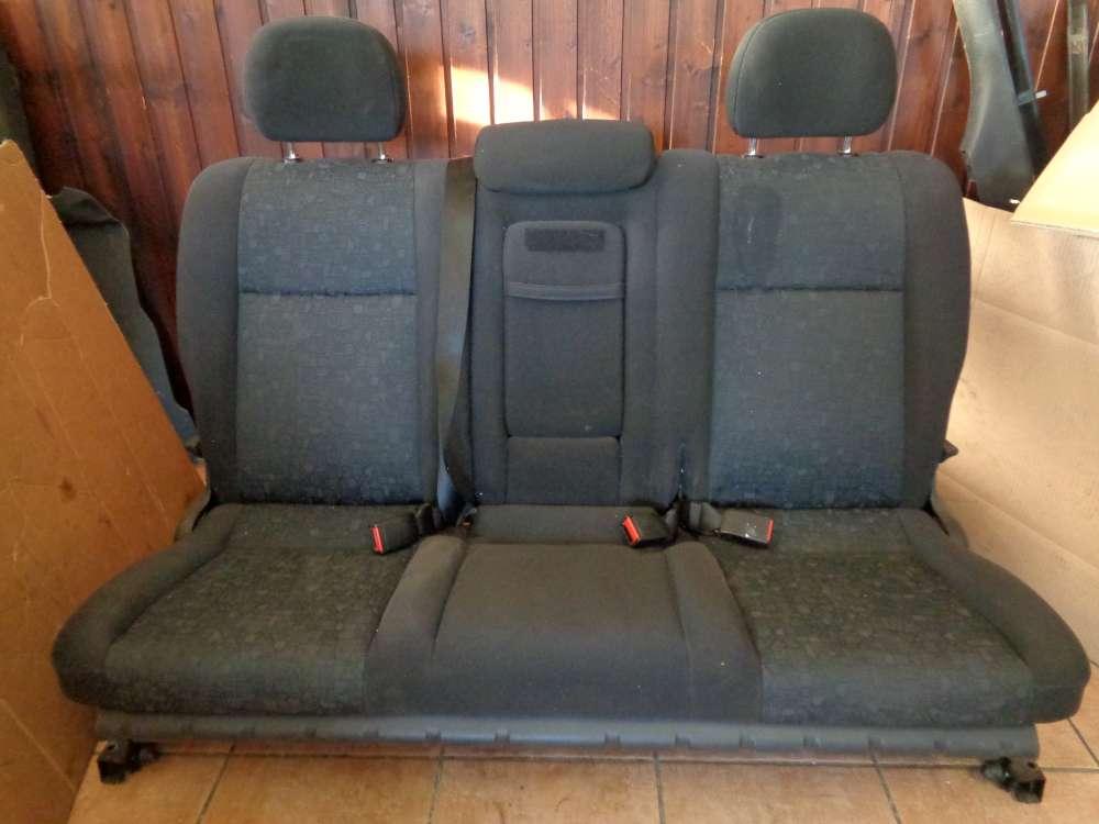 Opel Zafira A Bj:2001 Sitze Sitzbank Rücksitzbank Stoff Schwarz