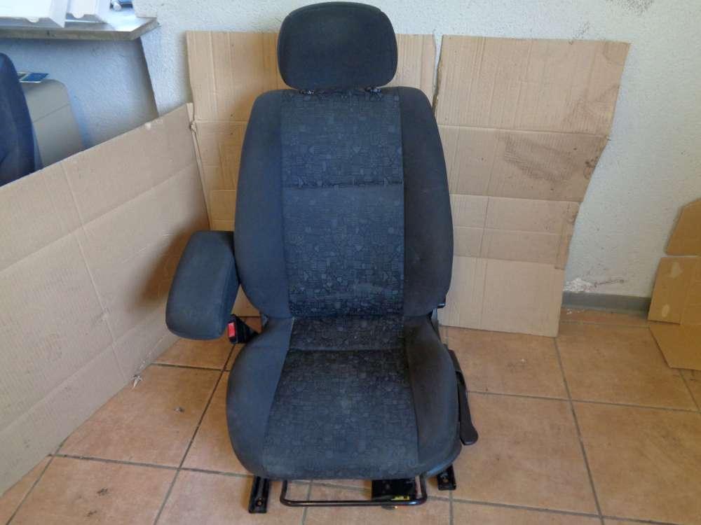Opel Zafira A Bj:2001 Sitz Fahrersitz Vorne Links Stoff Schwarz
