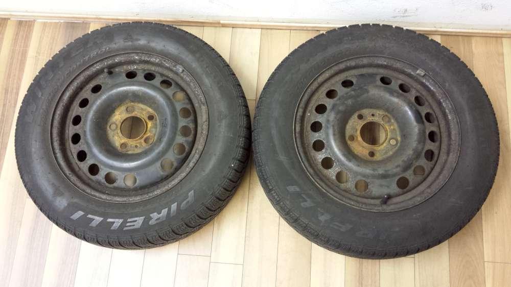 2x Winterreifen Stahlfelgen Opel Zafira A Meriva A 6Jx15H2 ET43 195/65 R13 91T