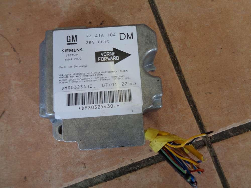 Opel Zafira A Bj:2001 Aitbagsteuergerät Steuergerät 24416704DM