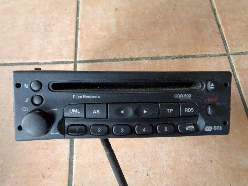 Opel Zafira A Autoradio CDR 500 Delco GM 09136107 2F4 original