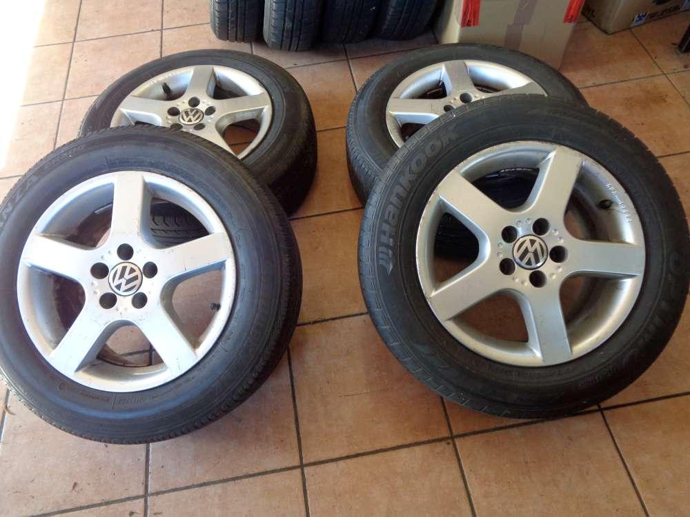 4 x Alufelgen mit Reifen für  VW Golf 5  Sommerreifen  195 65R15 91T   7Jx15 H2  ET38  1J0071490 / 8L0071490