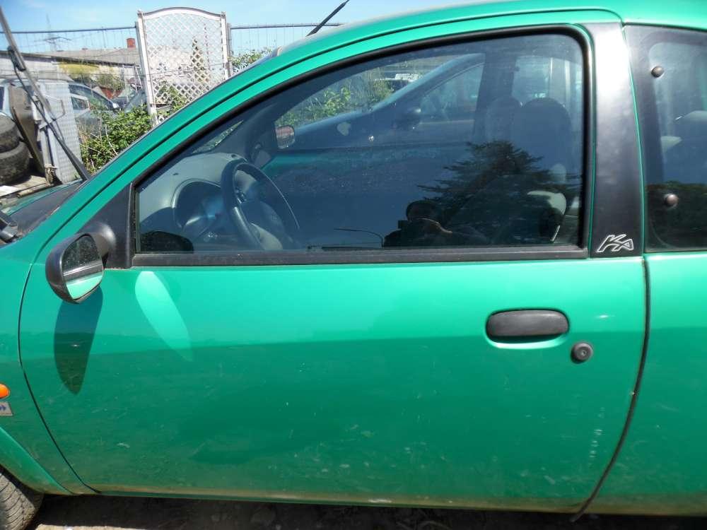 Ford Ka Bj:2000 3Türer Fahrertür Tür Vorne Links Grün Farbcode:RBT