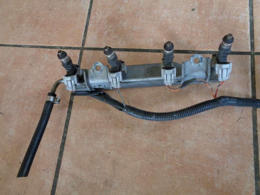 Nissan Micra III K12 Bj:2007 Einspritzdüse Einspritzleiste