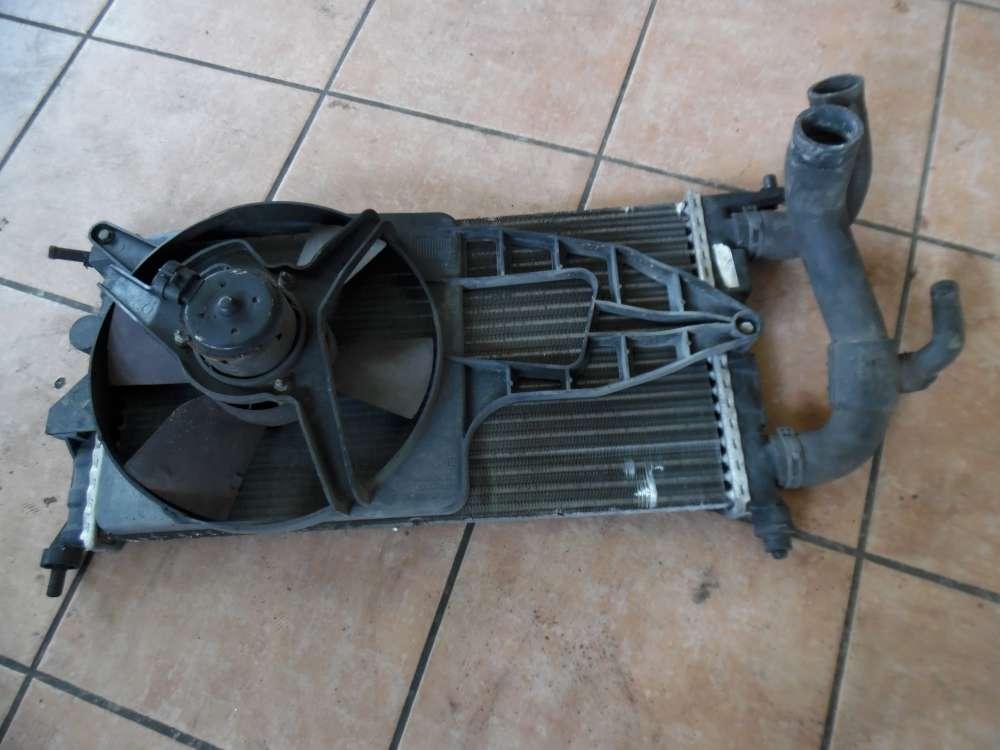 Opel Corsa B Wasserkühler Kühler 8038845 mit Lüftermotor Kühlerlüfter und Schlauch 009129090