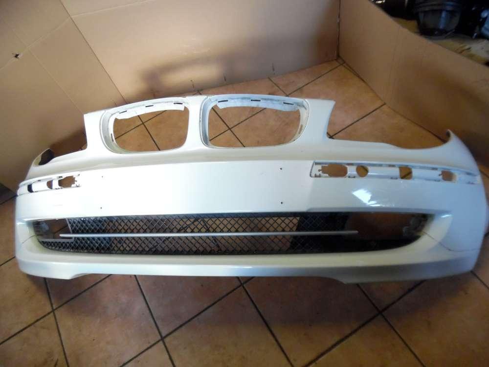 BMW 1er E81 E87 Original Stoßfänger vorne Weiß 7166462