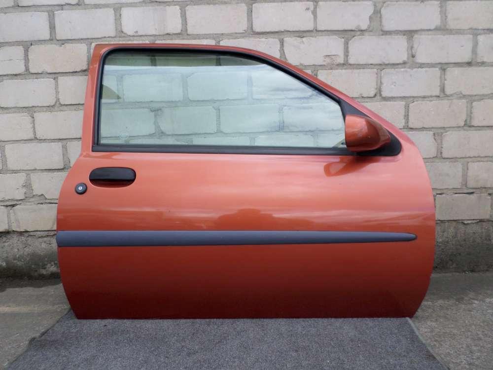 Ford Fiesta IV ( JA_JB_ ) Bj 1997 3 Türen Tür Vorne Rechts Orange Farbcode: W2