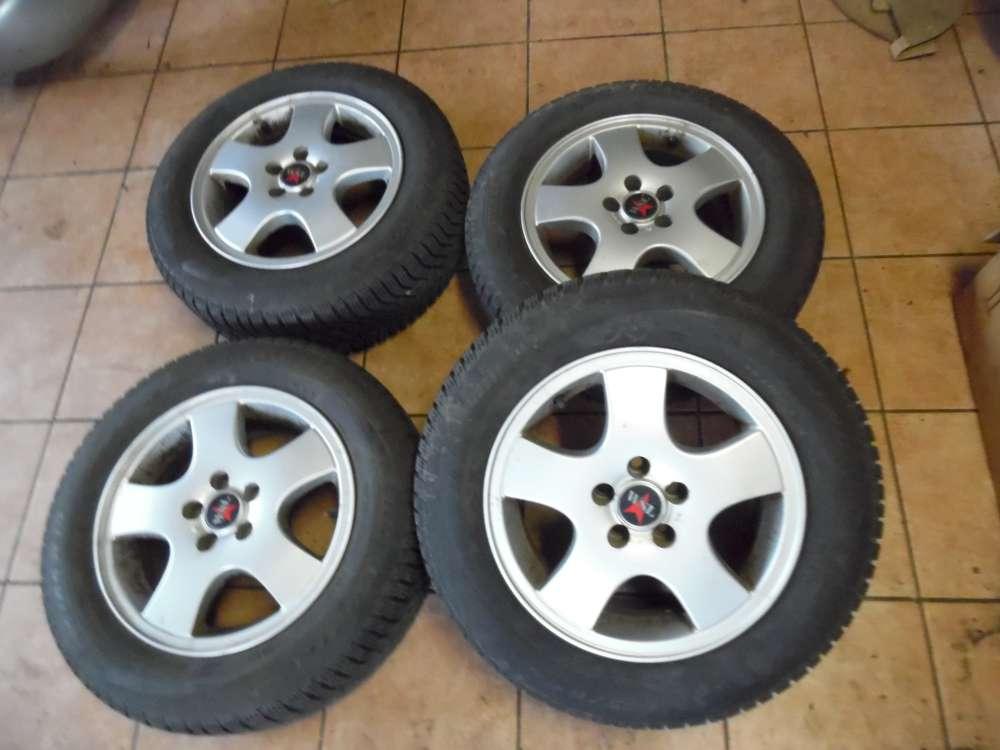 4 x Alufelgen mit Reifen Winter SnowControl für Audi A4 195 65R15 91T M+S   6,5Jx15 H2  ET 37  6515WSC