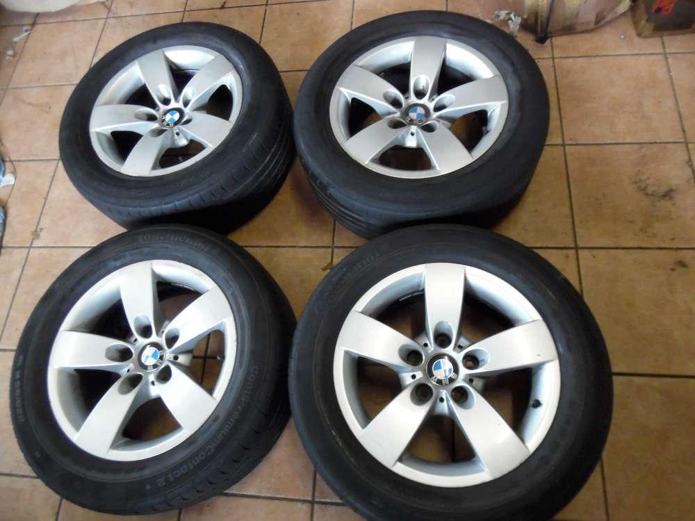 4x Alufelge mit Reifen für BMW 5er E60 E61 Continental  Winterreifen  225/55R16  7Jx16H2  6777345  16Zoll  ET 20