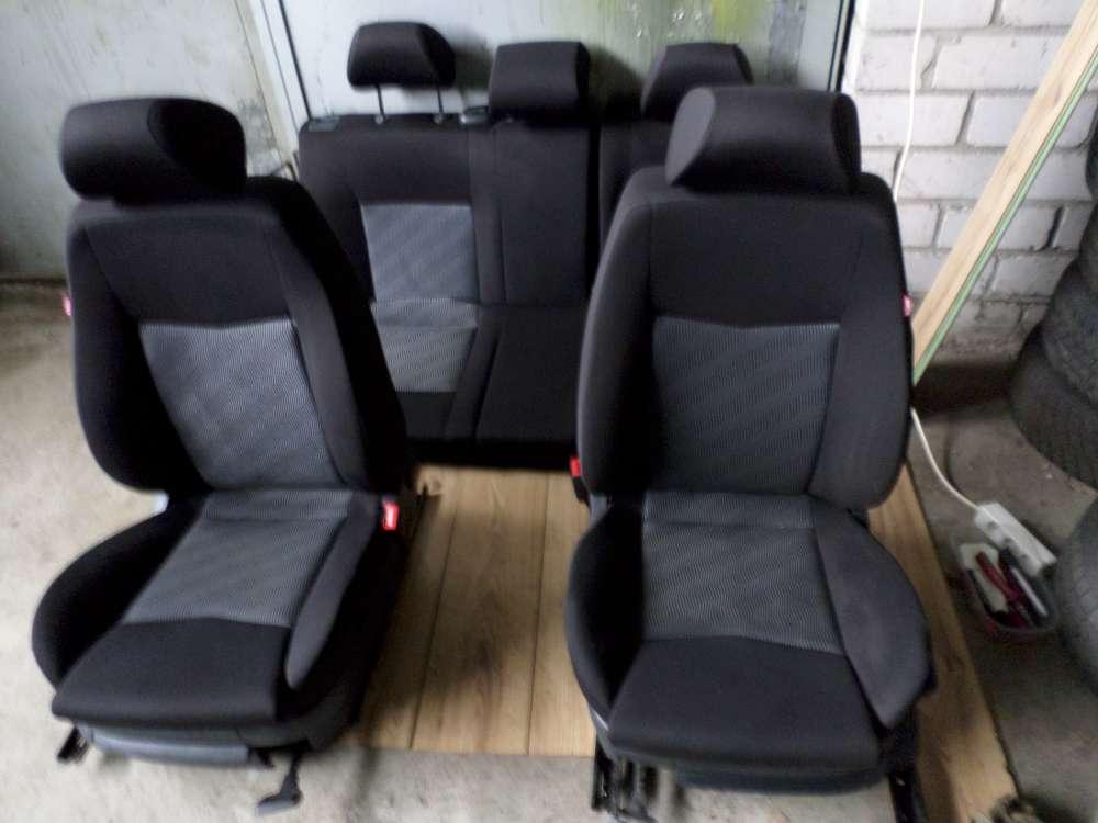 Original Seat Ibiza Bj.2005 5 Türen Sitzgarnitur Sitze Schwarz Stoff Komplett