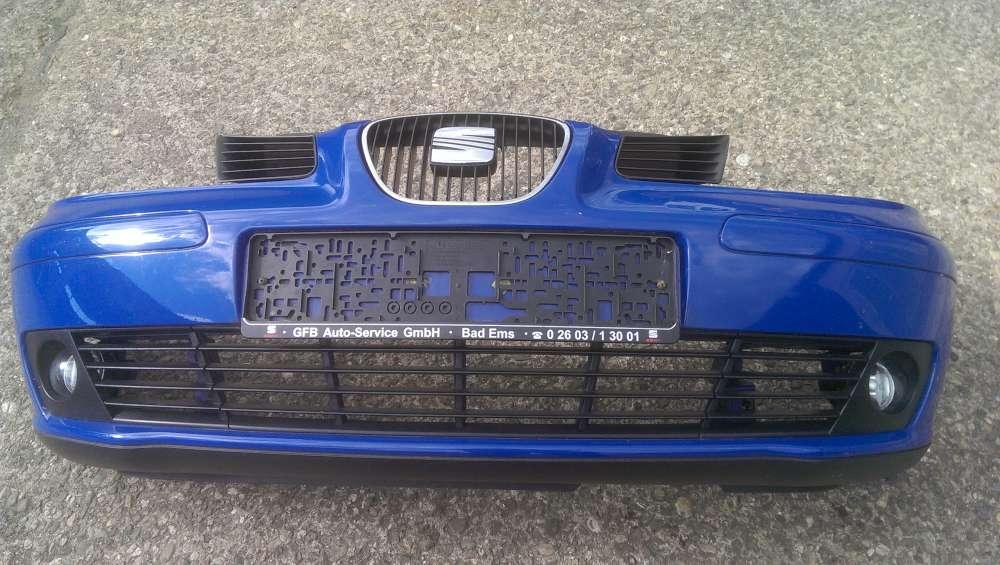 Seat Ibiza IV 6L0 807 221  Stoßstange vorne Blau  Lackcode : LS5G