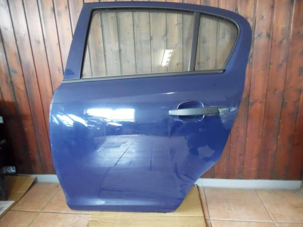 Opel Corsa D Tür Hinten Links Blau Farbcod : Y20Z