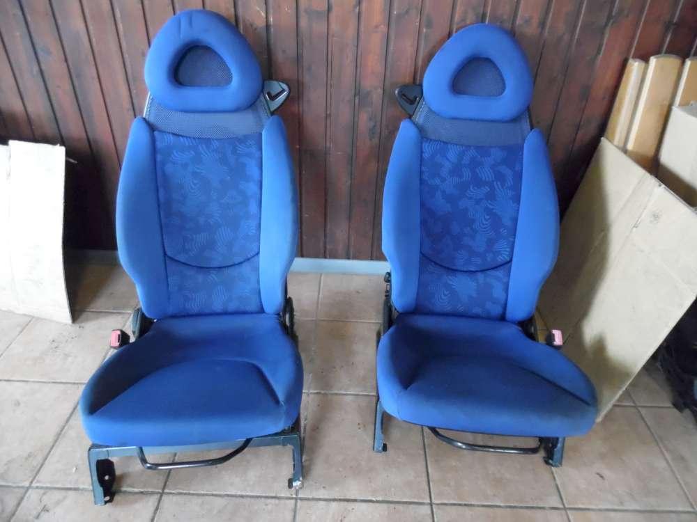 SMART Fortwo Sitze Vorne Rechts / Links Stoff Blau