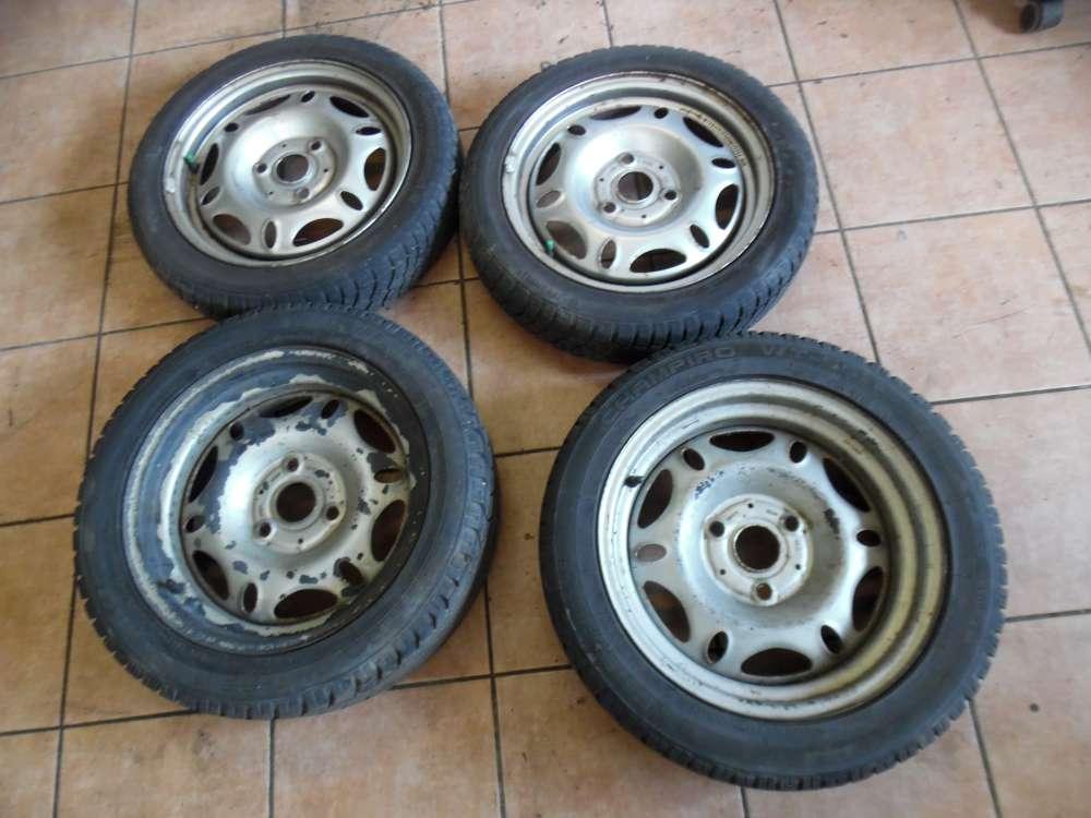 4X Stahlfelgen mit Reifen Winterreifen für SMART Fortwo 135/55 R15 77T / 135 70R15 70Q