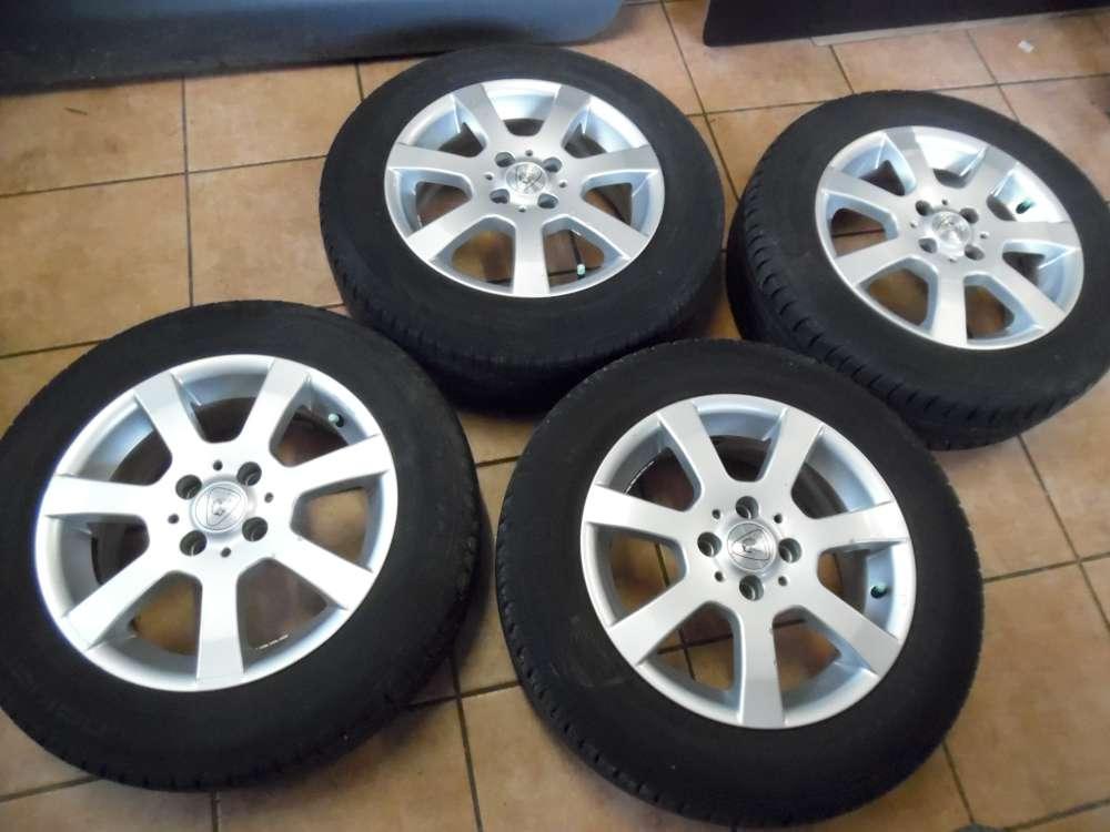 4x Alufelge mit Reifen Sommer für Dacia 2x Nokian / 2x Continental  185/65R15 88T  6,0Jx15H2  KBA 47084   ET 38