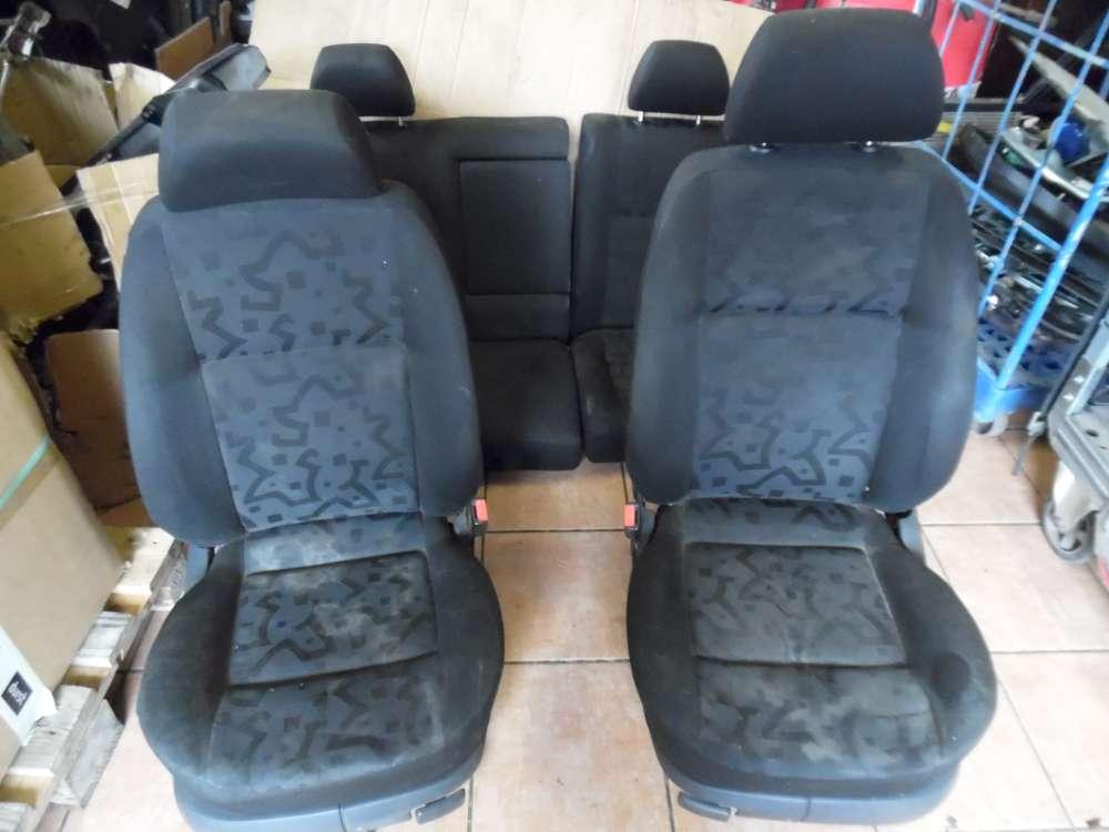 VW Golf 4 Innenausstattung Sitze Stoff Schwarz