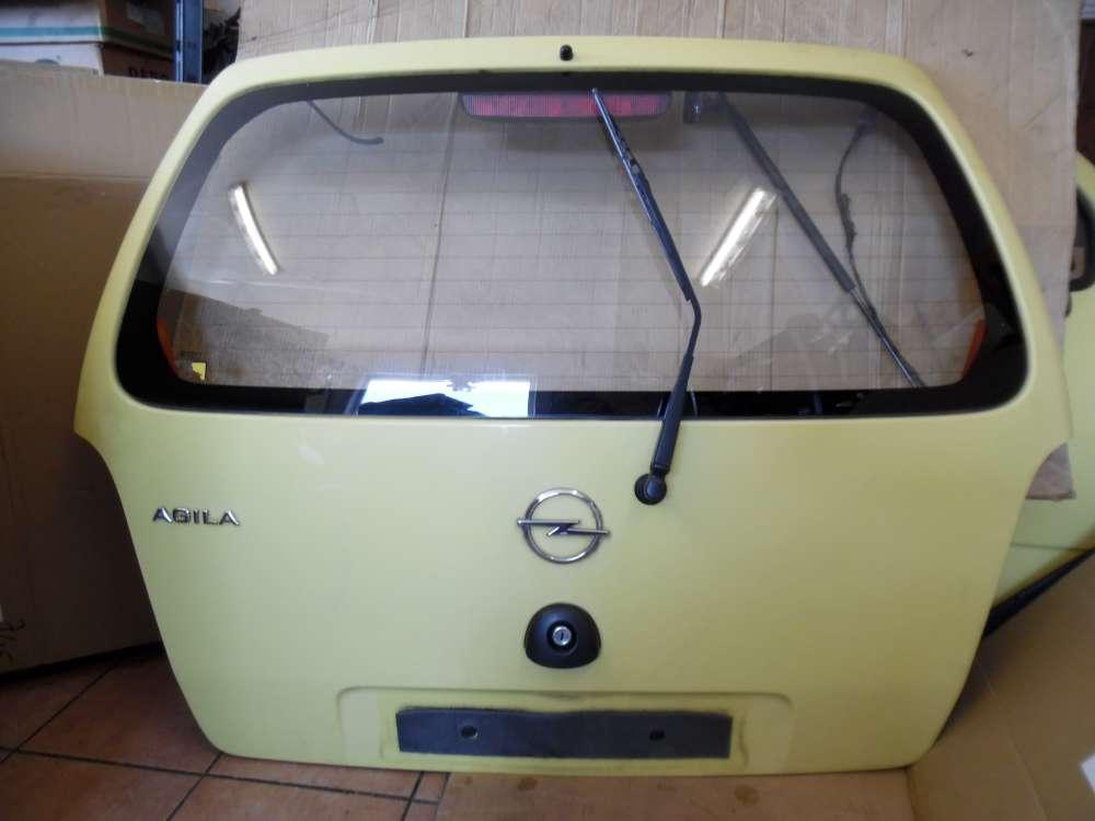 Opel Agila A Heckklappe Kofferraumklappe gelb Farbcode : Y485