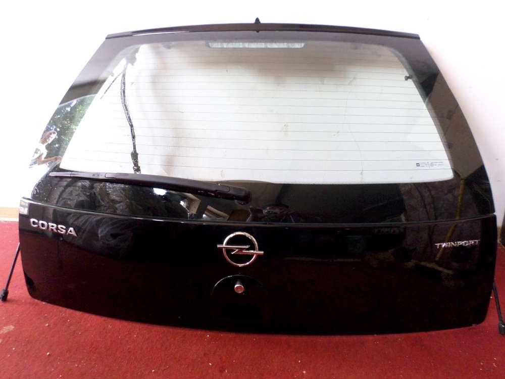 Opel Corsa C F08, F68 Bj 2004 5 Türen Heckklappe Farbe: Schwarz metallic