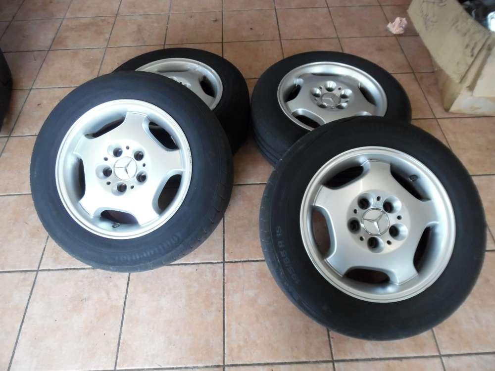 4 x Alufelgen mit Reifen Sommer Continental Für Mercedes 195/65 R15 91V  7,0JX15H2 KBA 44391  ET35