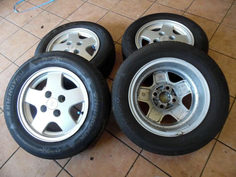 4x Alufelgen mit Reifen Hankook Sommerreifen Für Ford Focus 185/65R14 86H  5,5J14 H2     ET30,5